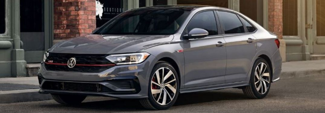 2020 Volkswagen Jetta GLI parked outside in gray