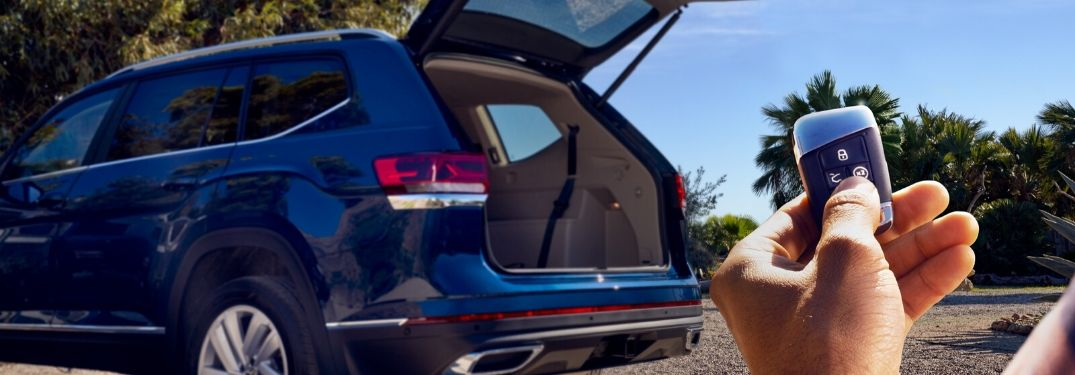 2021 Volkswagen Atlas cargo area opened by remote