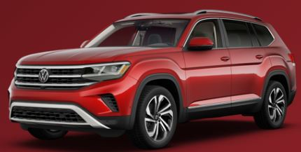2021 Volkswagen Atlas Aurora Red Metallic