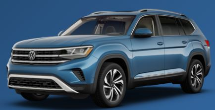 2021 Volkswagen Atlas Pacific Blue Metallic