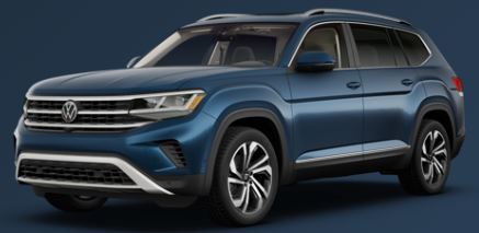 2021 Volkswagen Atlas Tourmaline Blue Metallic