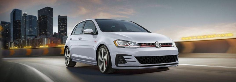 2020 Volkswagen Golf GTI driving front view