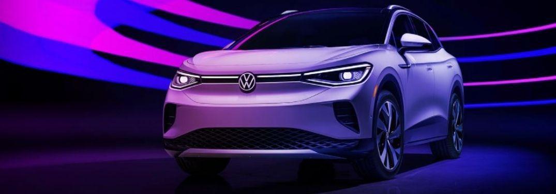 Volkswagen ID.4 parked in purple