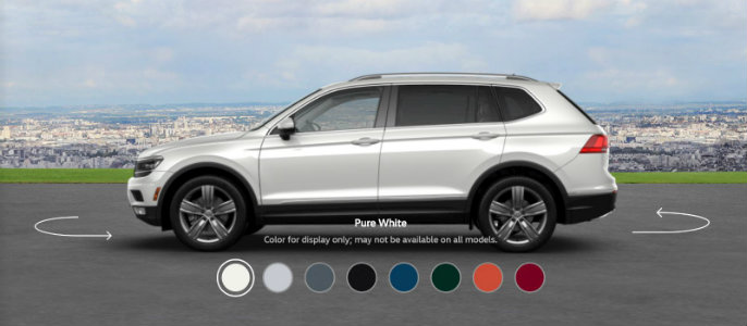 2018 Volkswagen Tiguan Color Options
