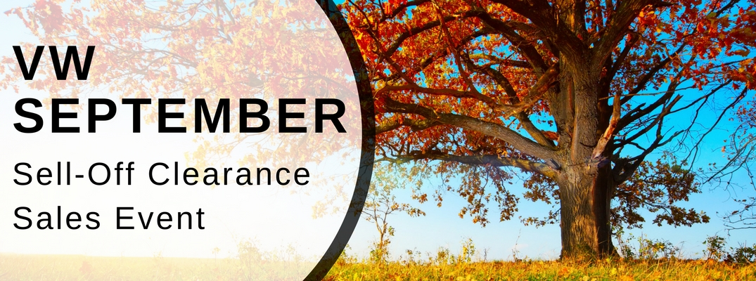 Volkswagen September Sell Off Clearance Sales Event In