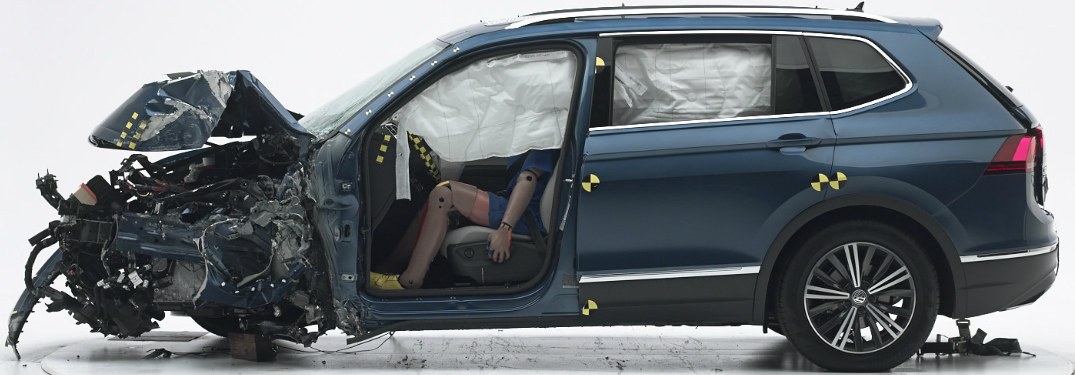 2018 Volkswagen Tiguan Getting Crash Tested by the Insurance Institute for Highway Safety