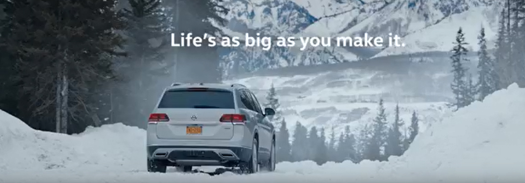 """""""Life's as big as you make it"""" Title and Silver 2018 VW Atlas"""