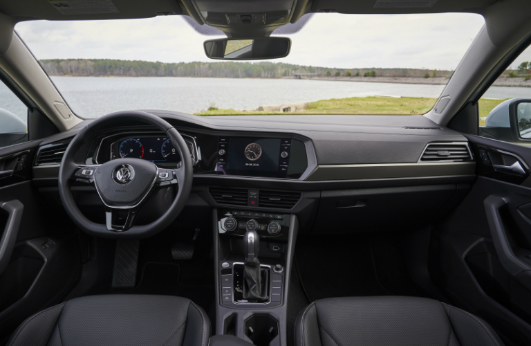 Dashboard And Black Seats Of 2019 Vw Jetta Sel Premium O