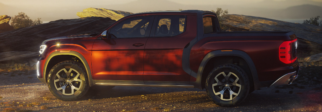 Side View of Red VW Atlas Tanoak Concept