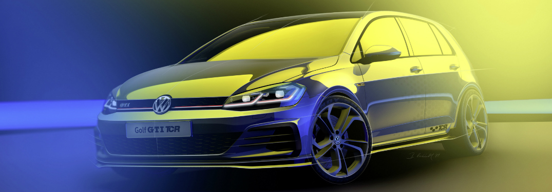 Front View of Grey Volkswagen Golf GTI TCR