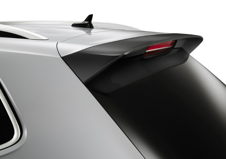 Hatch Top Spoiler on a Silver 2018 Volkswagen Tiguan