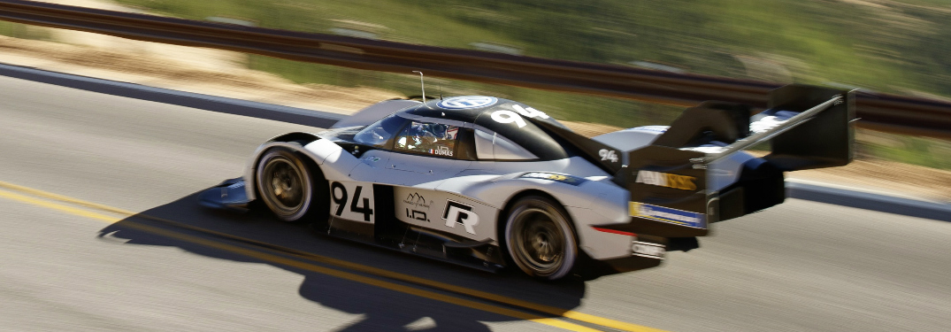 VW ID R Pikes Peak Race Car on the Pikes Peak International Hill Climb