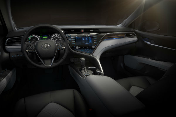 Interior dash of the 2018 Toyota Camry