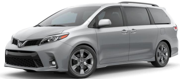 2018 Toyota Sienna Color Choices
