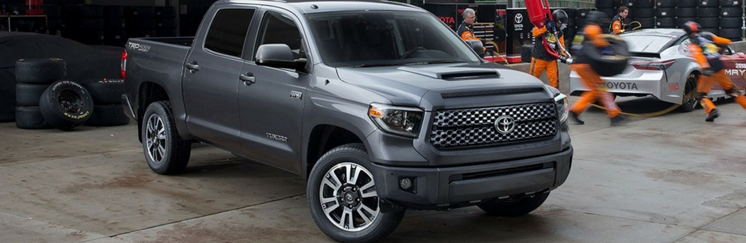 2018 Toyota Tundra parked in a warehouse.
