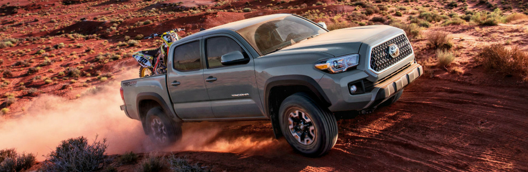 2018 Toyota Tacoma driving on dirt