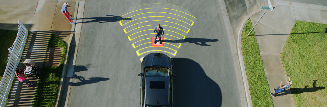 ford pre collision assist with pedestrian detection feature