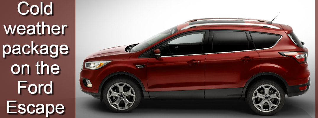 What comes with the Cold Weather Package on the 2017 Ford Escape?