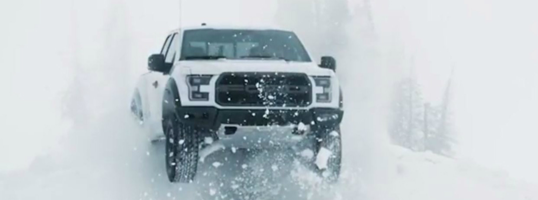 Video of the 2017 Ford F-150 Raptor in the Snow