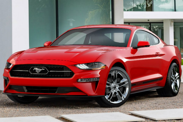 2018 Ford Mustang parked in a driveway
