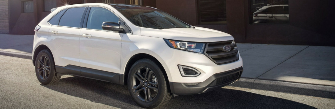2018 Ford Edge parked on the road.