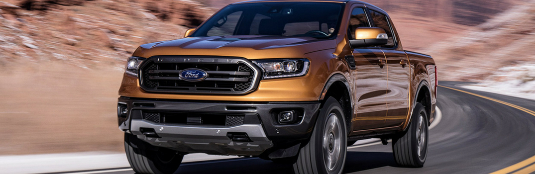 2019 Ford Ranger driving down the road