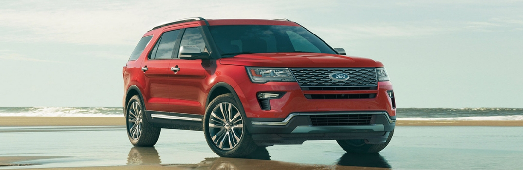 2019 Ford Explorer parked outside