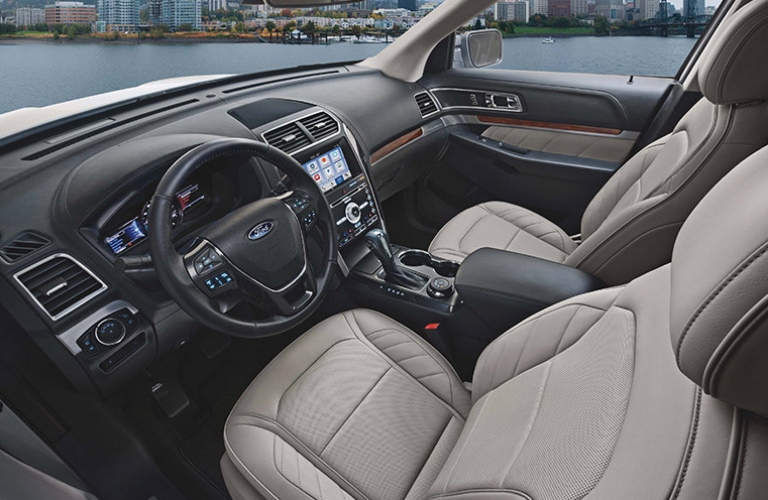 2019 Ford Explorer front interior view