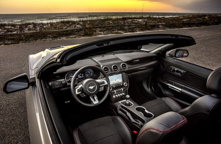 2019 Ford Mustang interior view from top