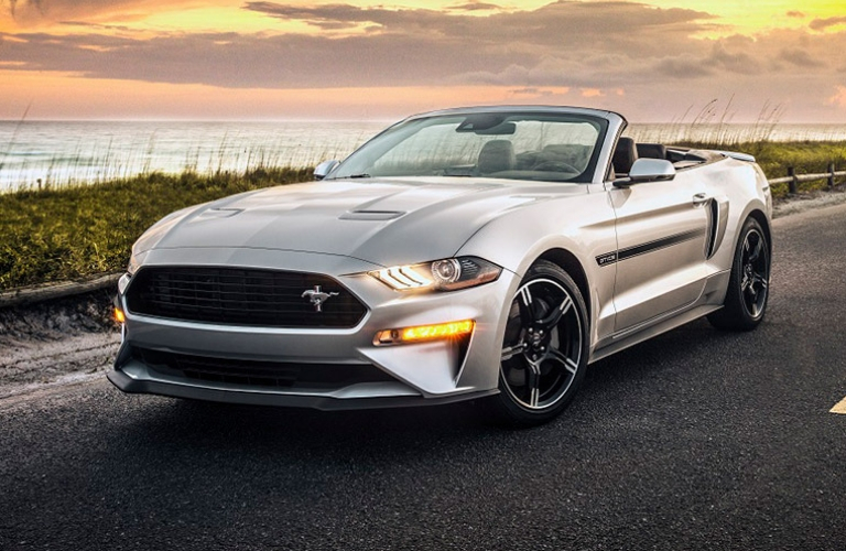 2019 Ford Mustang driving on the road