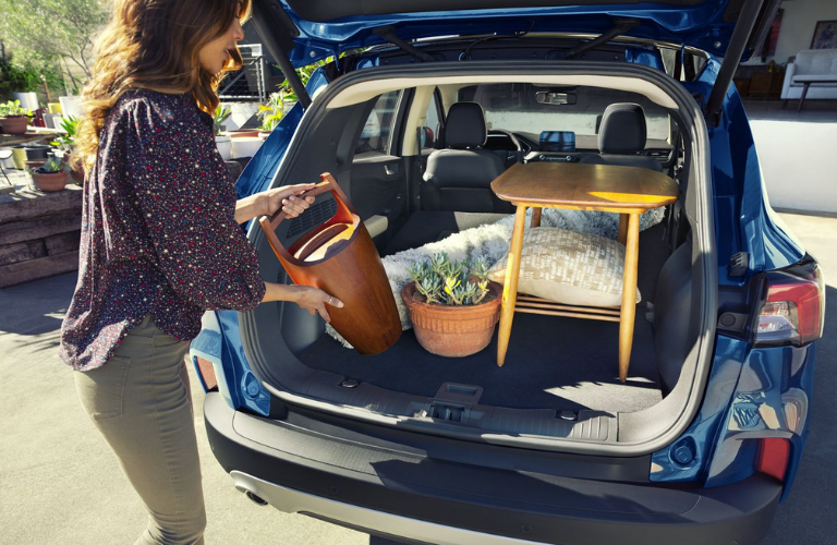 Cargo area of the 2020 Ford Escape