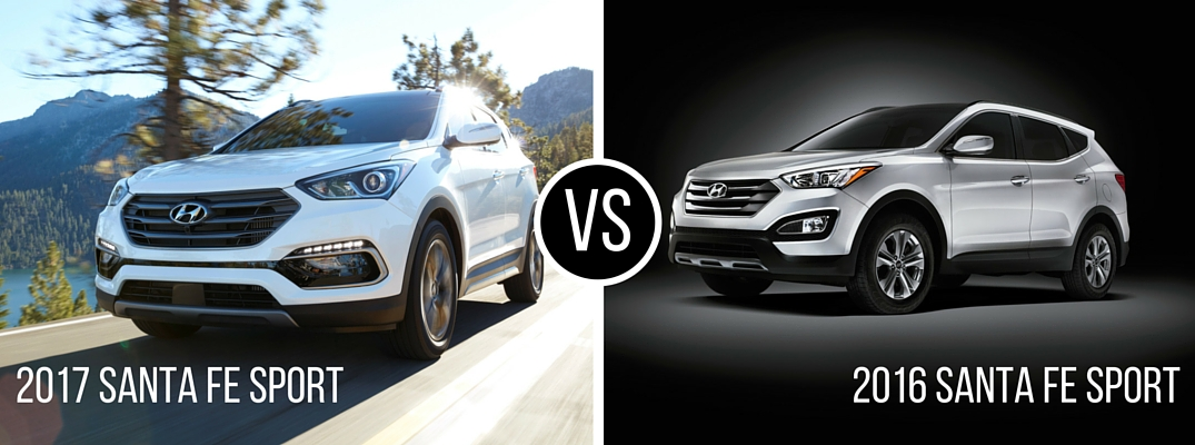 Differences between 2017 Hyundai Santa Fe Sport and 2016 Santa Fe Sport