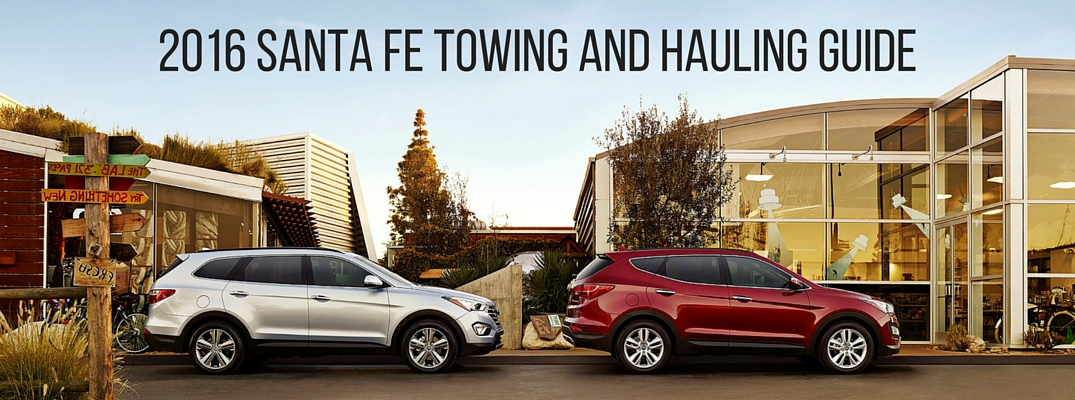 2016 Hyundai Santa Fe Towing Capacity