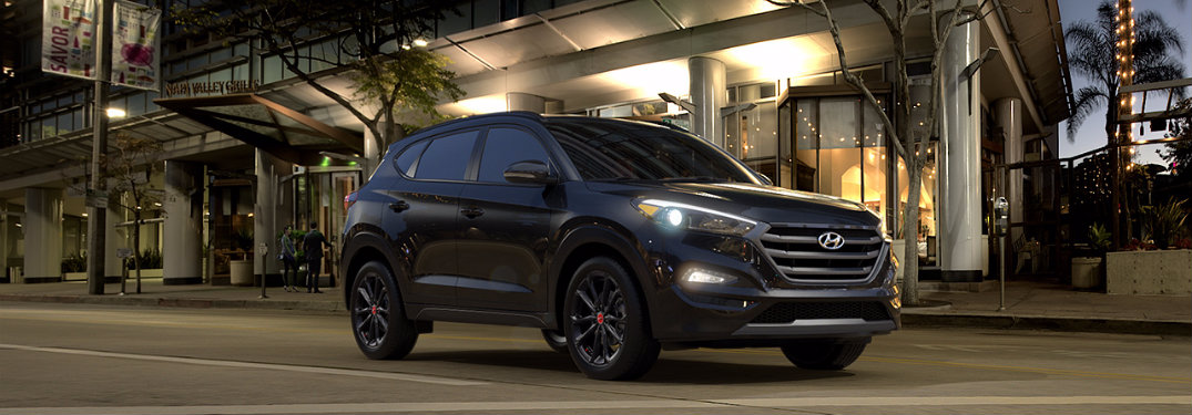 what is unique to the 2017 hyundai tucson night. Black Bedroom Furniture Sets. Home Design Ideas