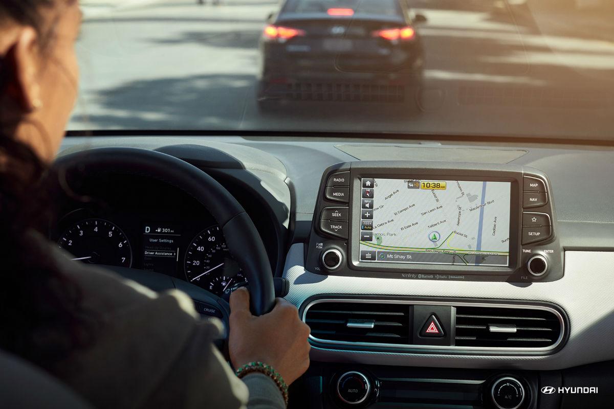 Color touchscreen of the 2018 Hyundai Kona