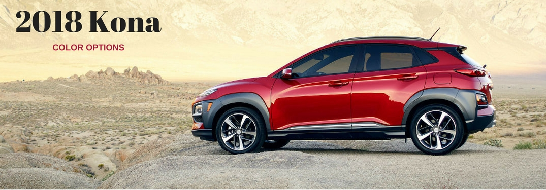 What are the Exterior Color Options of the 2018 Hyundai Kona?