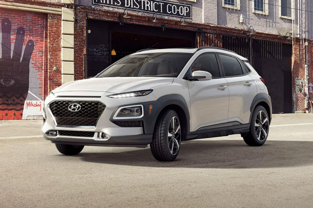 2018 Hyundai Kona in chalk white
