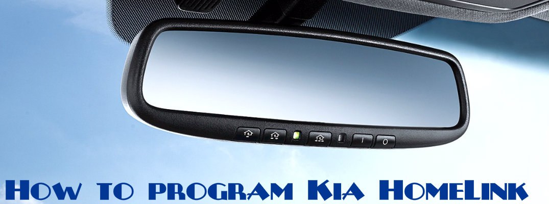 How to Program Kia HomeLink