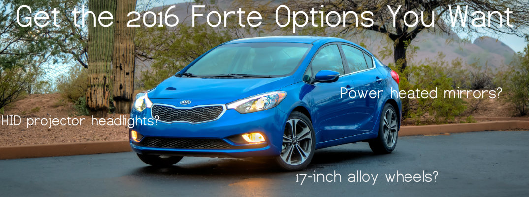 Packages Available with the 2016 Kia Forte
