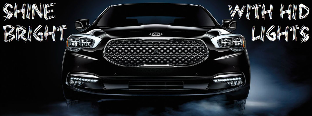 What are HID headlights and which Kia vehicles have them available