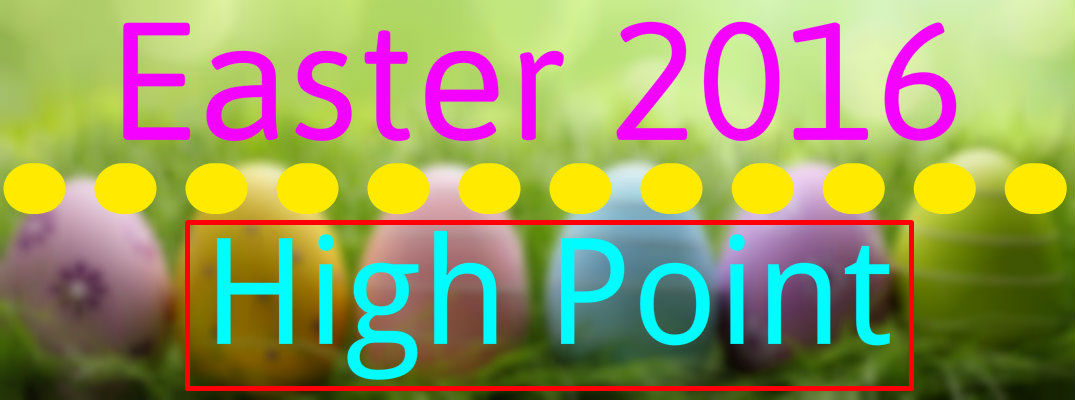 2016 Easter Egg Hunts and Brunch High Point NC