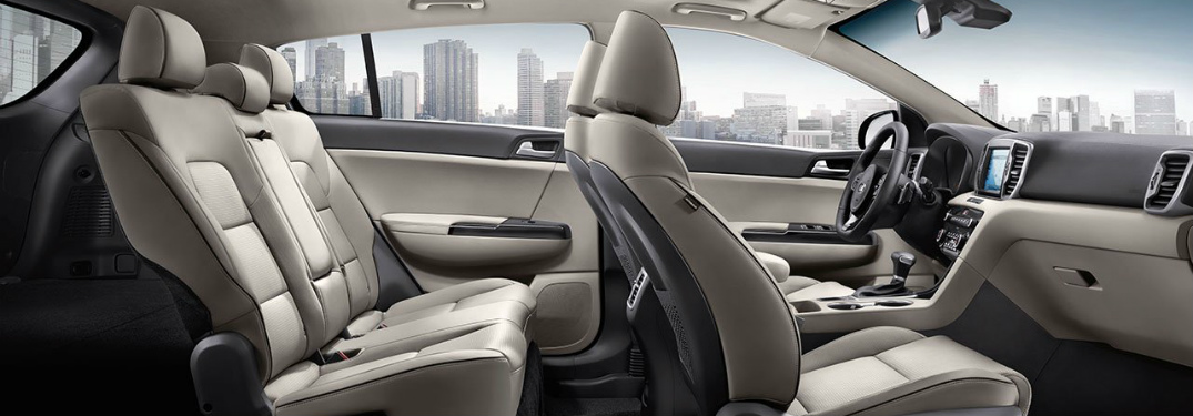 2017 Kia Sportage seating for five