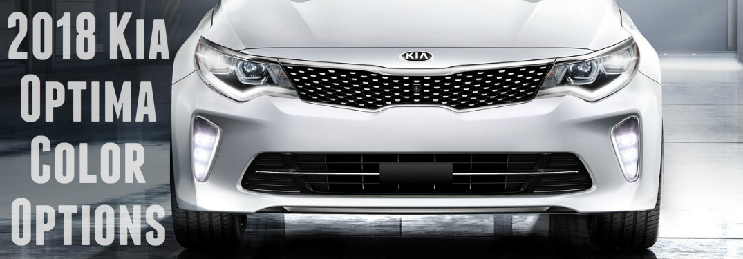 2018 Kia Optima white front grille