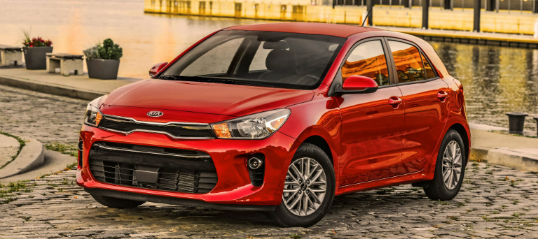2018 Kia Rio Hatchback Red Side View O
