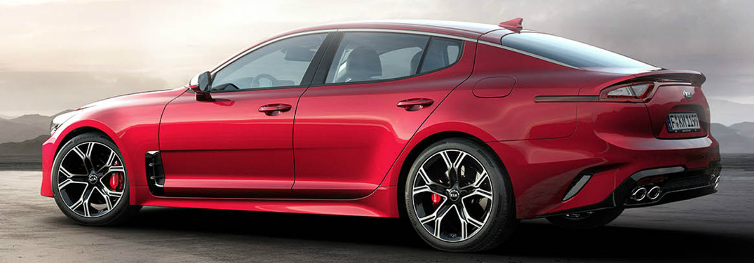 2018 Kia Stinger red side view