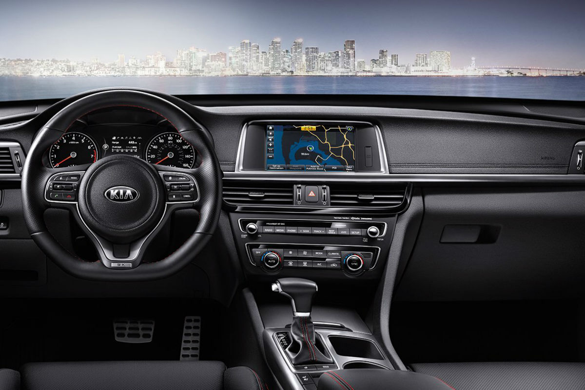 2018 Kia Optima's driver cockpit