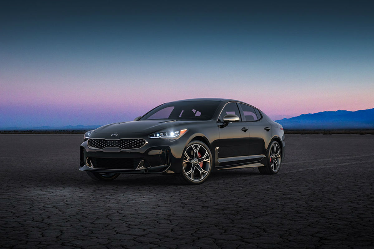 2018 Kia Stinger in Aurora Black