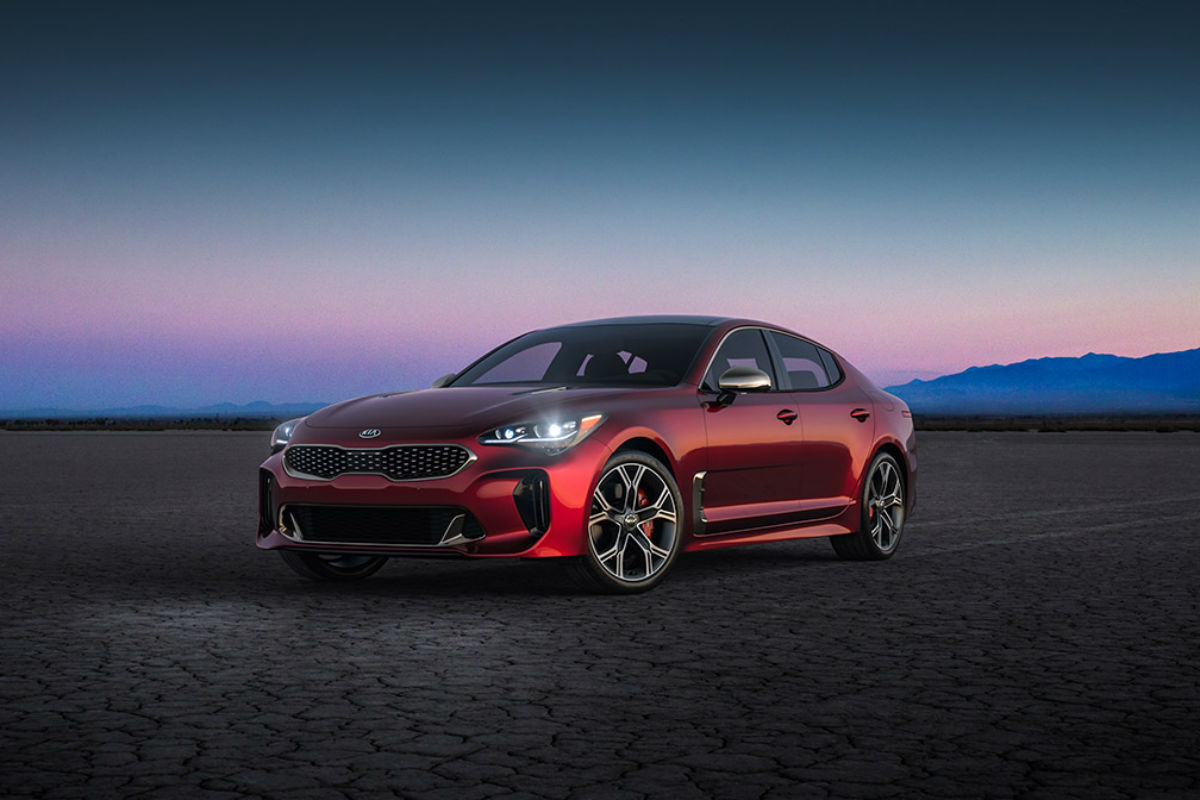2018 Kia Stinger in HI-Chroma Red