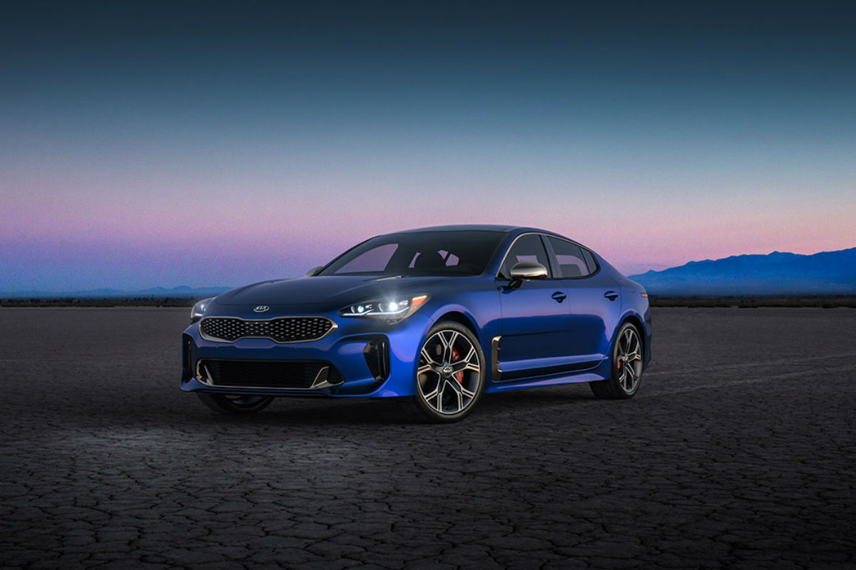 2018 Kia Stinger in Micro Blue