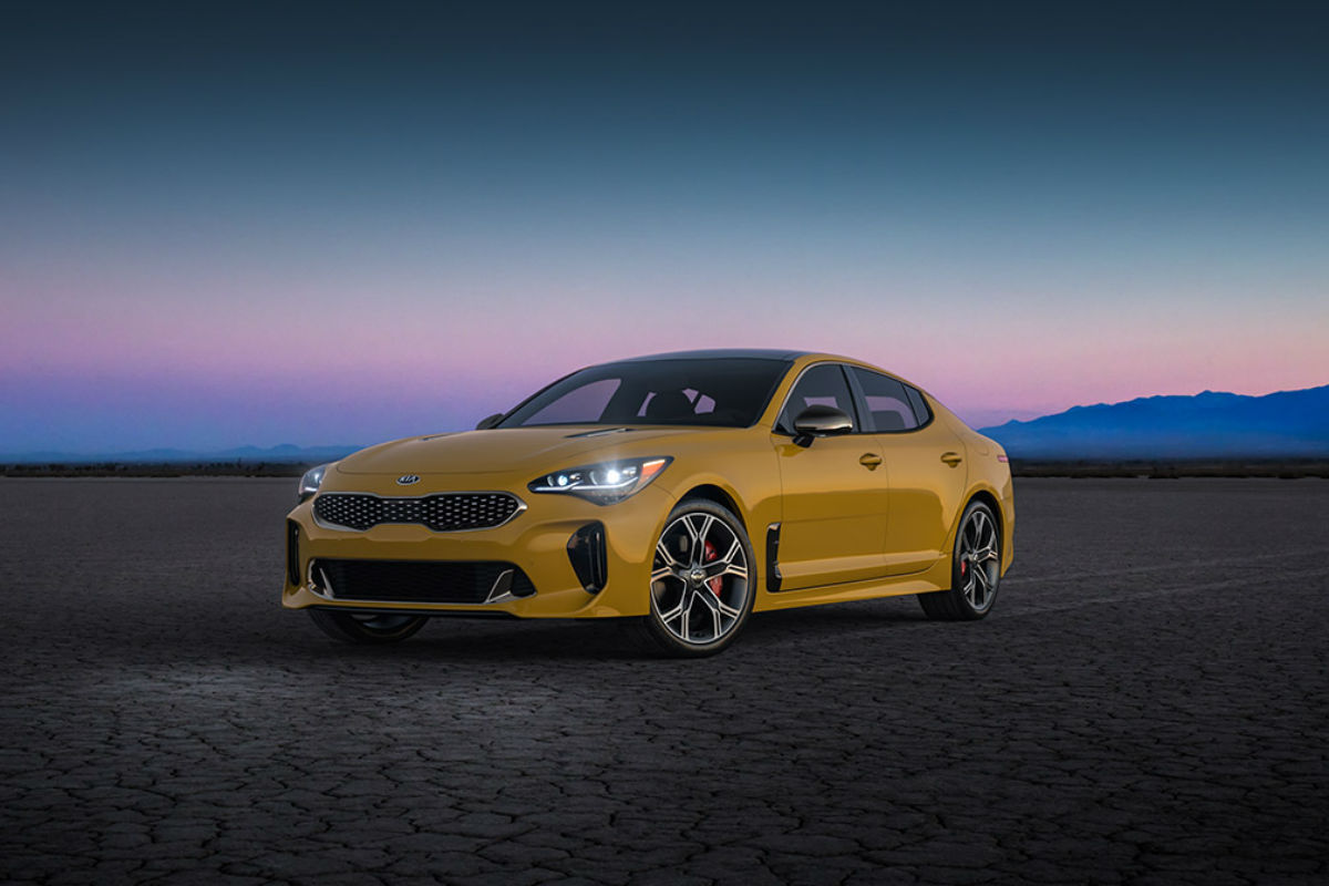 2018 Kia Stinger in Sunset Yellow